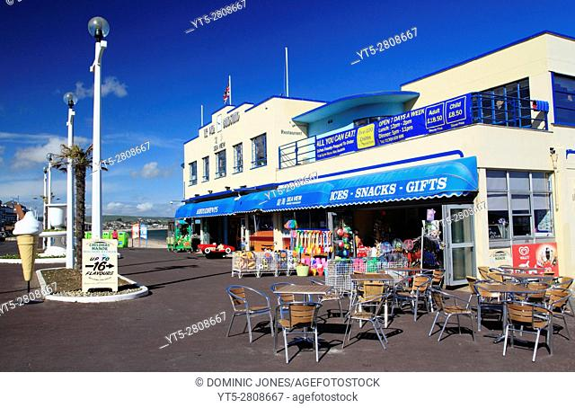 The Pier Bandstand on Weymouth Beach, Weymouth, Dorset, England, Europe