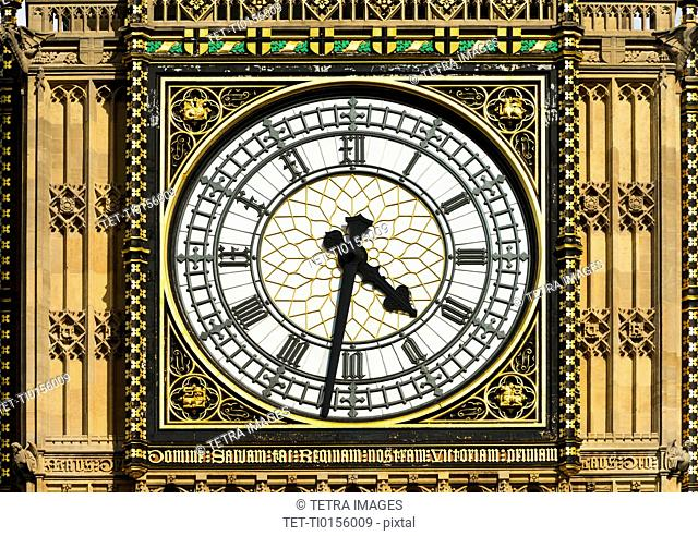 UK, London, Detail of Big Ben