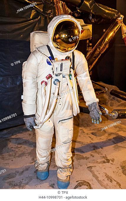 England, London, Kensington, Science Museum, NASA Spacesuit
