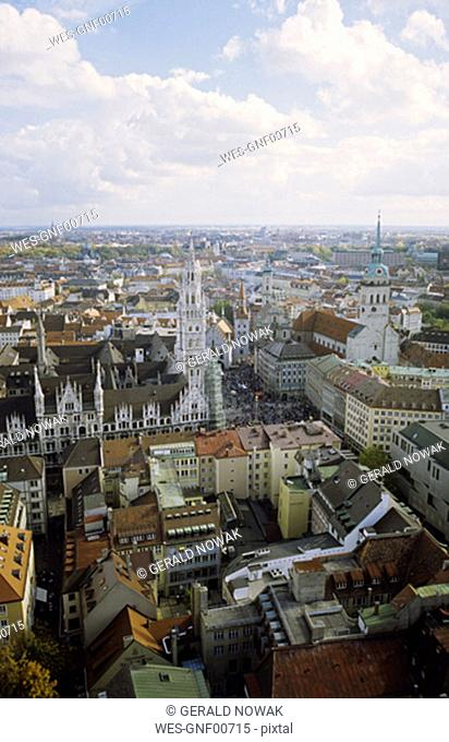 View over Munich, Bavaria, Germany