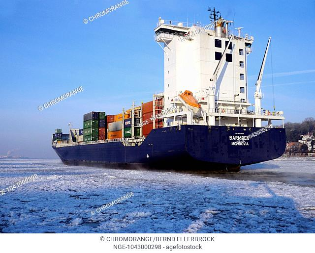 Containership in the ice