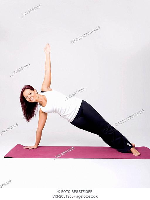 woman does pilates - 16/02/2010