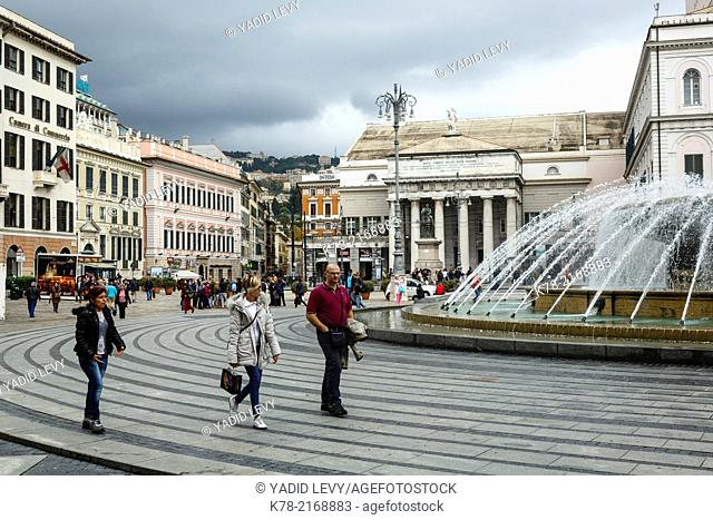De Ferrari square, Genoa, Liguaria, Italy
