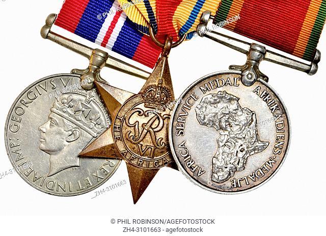 1939-45 War Medal; The Africa Star; Africa Service Medal