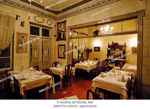 The antique looking restaurant 1900, serving Italian cuisine. Ioannina, Epiros, Greece, Europe