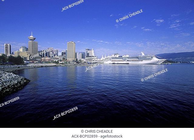 View of Canada Place with Cruise Ship, Vancouver, British Columbia, Canada