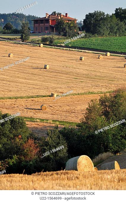 Crespellano (Bologna, Italy): field with bales