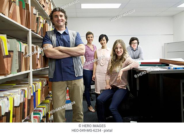 team portrait of businesspeople
