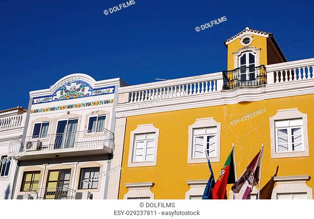 Facade of typical Portuguese building