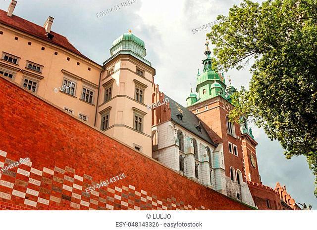 Krakow, Poland - Wawel castle at day