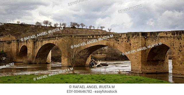 Medieval bridge, Ebro river