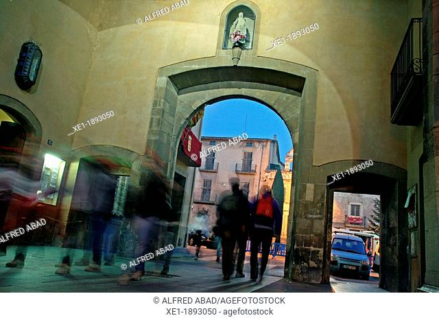 Centelles Portal, s.XVI, Town Hall, Centelles, Catalonia, Spain