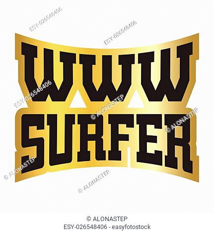 WWW surfer t shirt typography graphics. Grunge mockup with window address. Fashion stylish print sports wear. Template for apparel, card poster