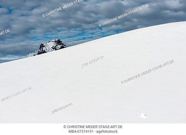 mountain peak, Lech am Arlberg, winter landscape