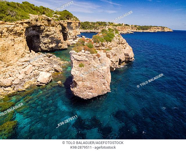 Es Pontas, arco natural de roca, Santanyí, Mallorca, balearic islands, spain, europe