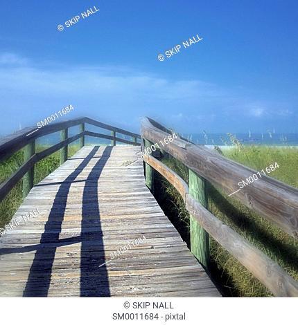 A boardwalk at the beach in Florida