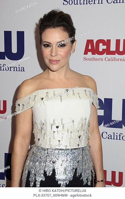 Alyssa Milano 11/11/2018 The ACLU SoCal's Annual Bill of Rights Dinner held at The Beverly Wilshire Hotel in Beverly Hills