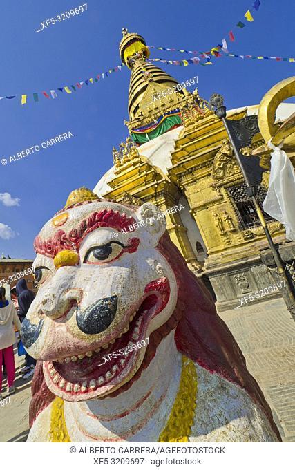 Swayambhunath Stupa, Swayambhunath Temple, Monkey Temple, UNESCO World Heritage Siite, Kathmandu, Nepal, Asia