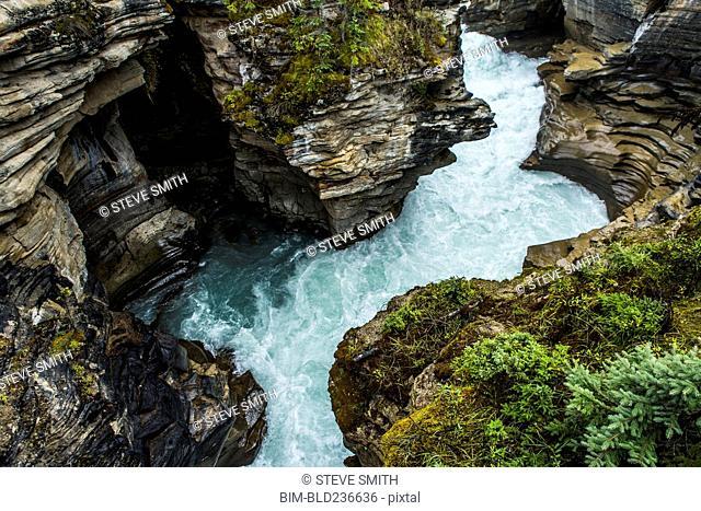 River rapids winding through rocks