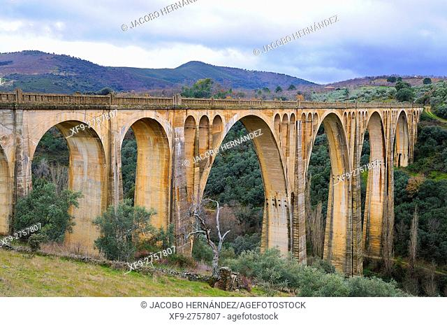 Railway bridge.Guadalupe.Cáceres province.Extremadura.Spain