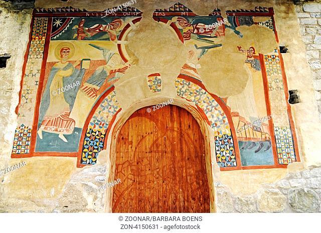 Sant Joan, church, UNESCO World Cultural Heritage Site, Boi, La Vall de Boi, Pyrenees, Lleida province, Catalonia, Spain, Europe, Sant Joan, Kirche