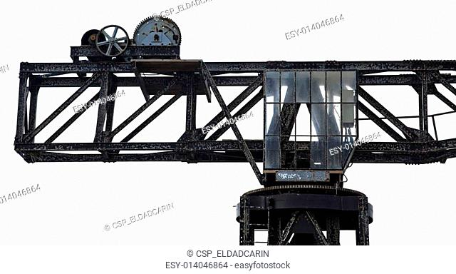 Isolated Vintage Harbour Crane