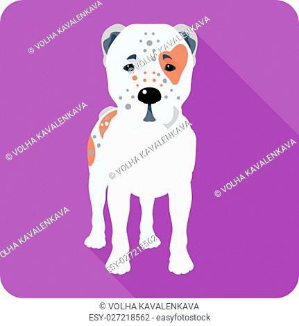 Vector Central Asian Shepherd Dog icon flat design