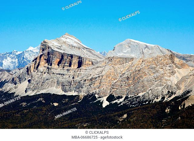 The Sasso Croce in all its beauty and majesty Dolomites Trentino Alto Adige Italy Europe