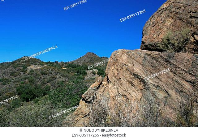 Sandstone geology in the Los Padres National Forest, Santa Barbara County, CA