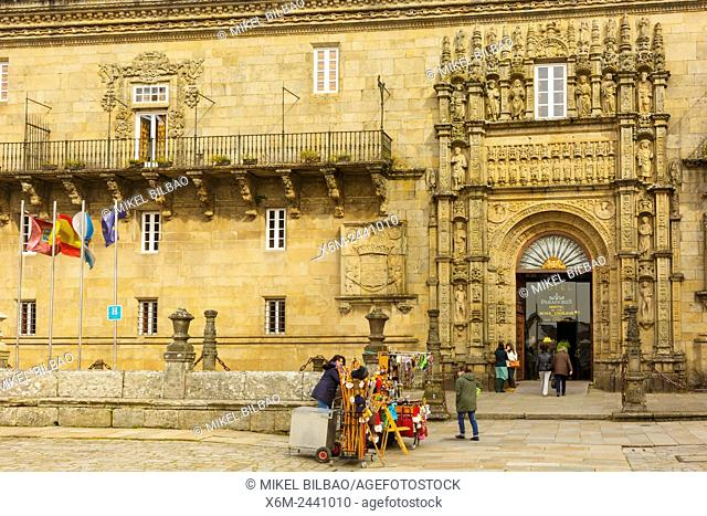 Hostal dos Reis Catolicos. Plaza do Obradoiro. Santiago de Compostela. A Coruña, Galicia, Spain, Europe