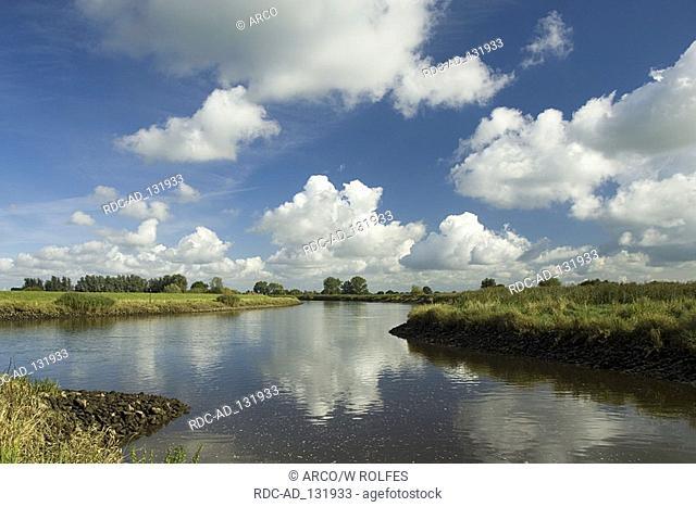 River Hunte marsh Lower Saxony Germany