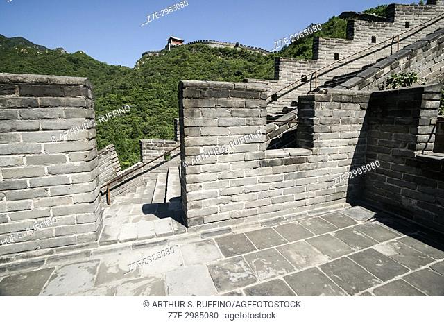 Architectural detail, Great Wall of China, Juyong Pass, Beijing, China