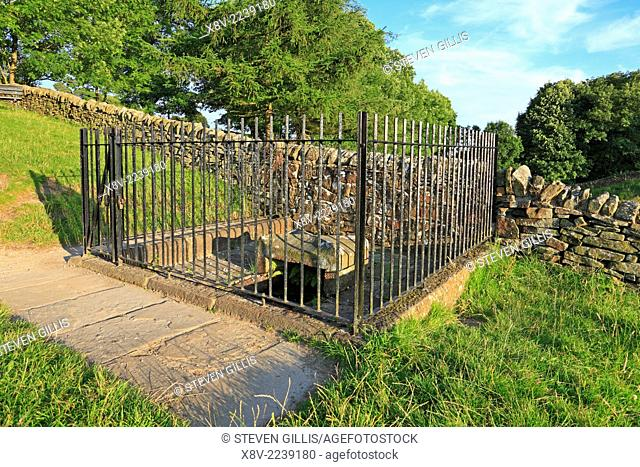 Mompesson's Well, Eyam, Derbyshire, Peak District National Park, England, UK