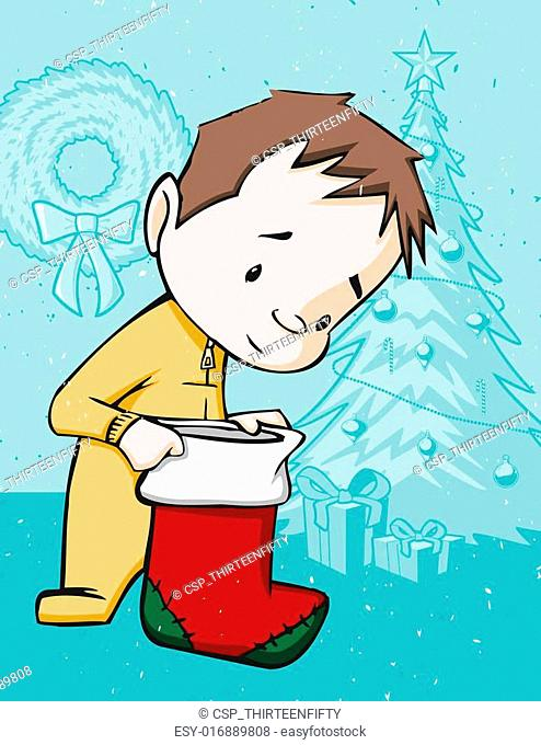 Checking the Christmas Stocking
