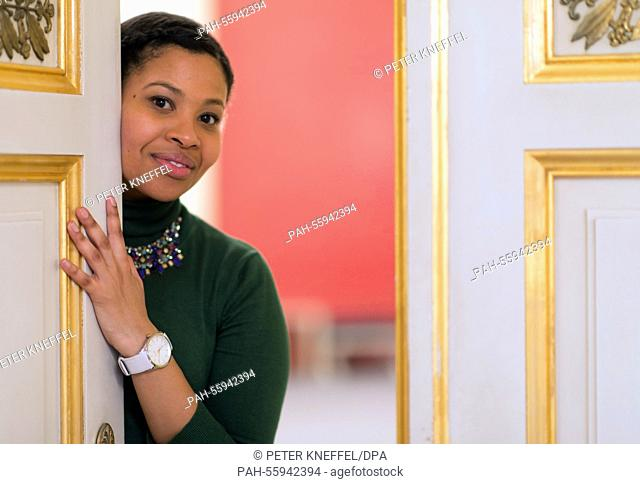 South African soprano singer Golda Schultz in Munich,Germany, 10 February 2015. Starting 20 February 2015, Schultz in singing the 'Freie' in the Wagner opera...