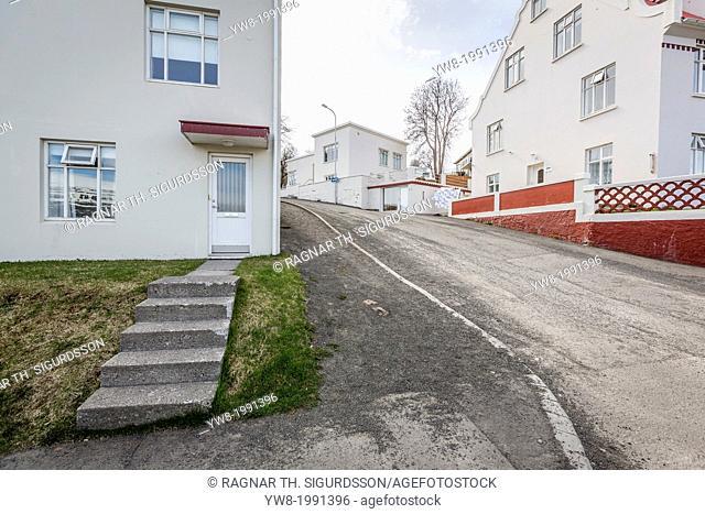 Neighborhoods in Akureyri, Northern Iceland