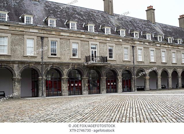 interior courtyard of the Irish museum of modern art imma in the former royal hospital kilmainham dublin Ireland