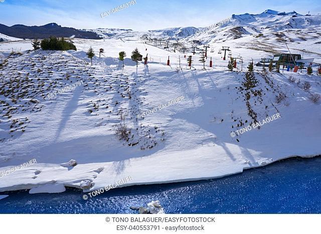 Formigal ski area in Huesca Pyrenees of Spain