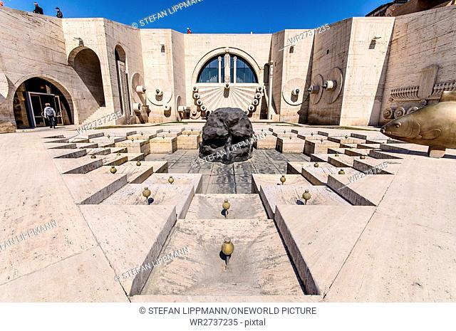 Armenia, Yerevan, Kentron, Cascade, the Museum of Contemporary Art in the Armenian capital Yerevan