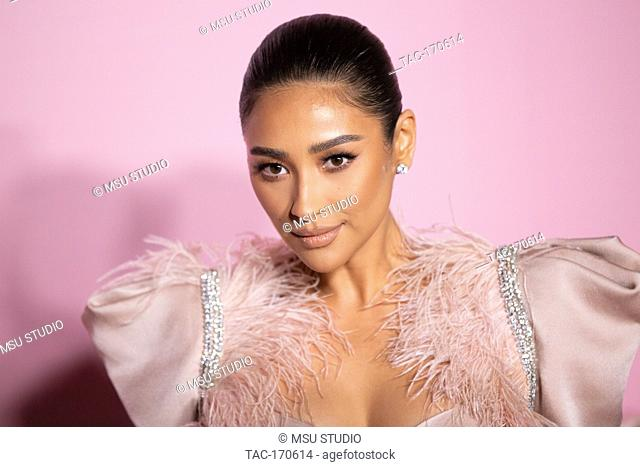 Shay Mitchell attends the launch of Patrick Ta's Beauty Collection at Goya Studios on April 04, 2019 in Los Angeles, California