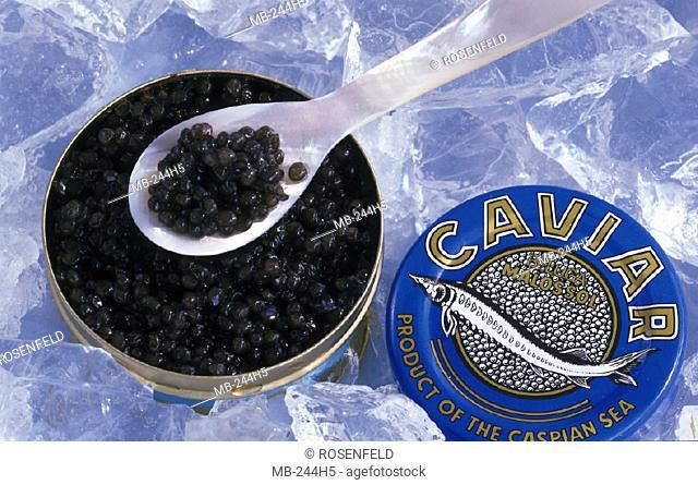 Ice, Can, Spoon, Caviar