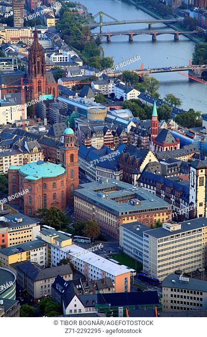 Germany, Hessen, Frankfurt am Main, Römer, aerial view