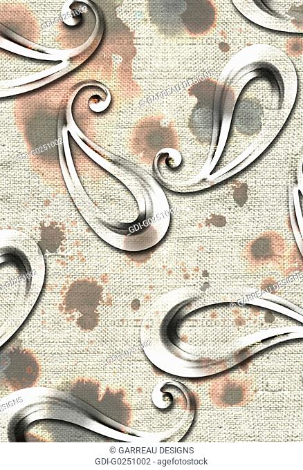 Paisley over textured background