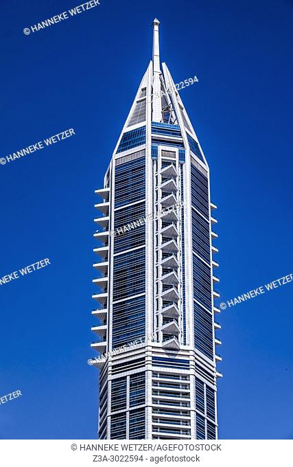 The Marina Torch, also known as Dubai Torch, Dubai Torch Tower, and The Torch, is a residential skyscraper in Dubai Marina in Dubai, United Arab Emirates