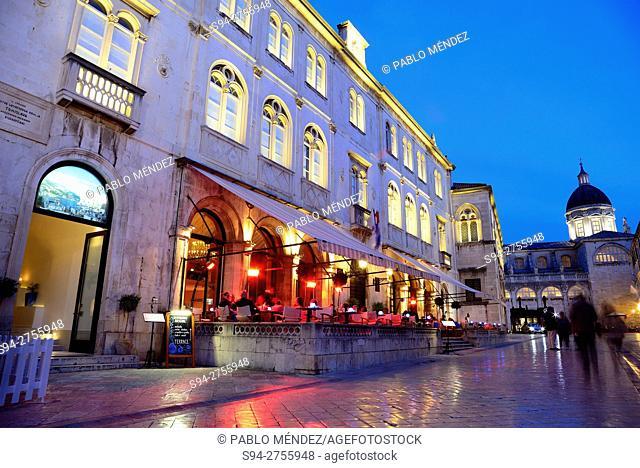 """Pred Dvorom street """"""""Ulica"""""""" in Dubrovnik, Croatia"""