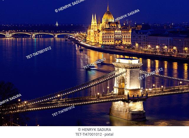 Chain Bridge and Hungarian Parliament