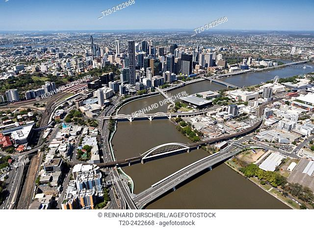 Skyline of Brisbane, Brisbane, Australia