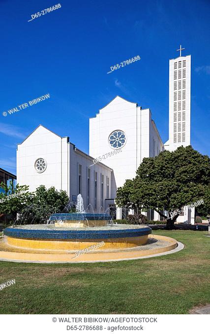 New Zealand, North Island, Hawkes Bay, Napier, Waiapu Cathedral, exterior