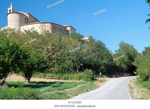 Sorbolongo (Pesaro Urbino, Marches, italy), old typical village along the road from Fossombrone to Jesi