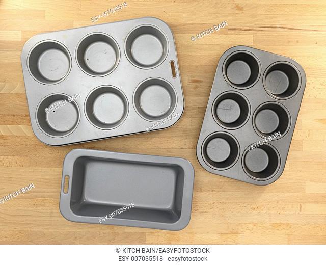 A close up shot of baking equipment